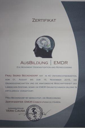 Zertifikat EMDR
